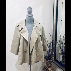 Lacoste crop trench jacket 44